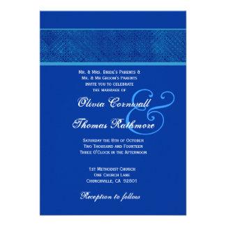 Royal Blue Wedding V561 Invite