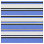 [ Thumbnail: Royal Blue, White, and Black Colored Pattern Fabric ]