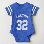 Royal Blue & White Baby | Sports Jersey Design Baby Bodysuit