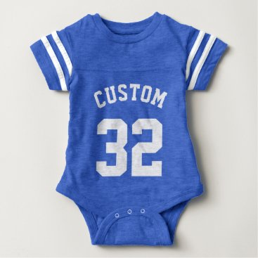 Toddler & Baby themed Royal Blue & White Baby | Sports Jersey Design Baby Bodysuit
