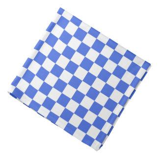 Royal Blue White Checkerboard Pattern Bandana