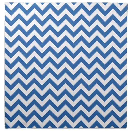 Royal Blue White Chevron Pattern Cloth Napkin