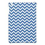 Royal Blue White Chevron Pattern iPad Mini Covers