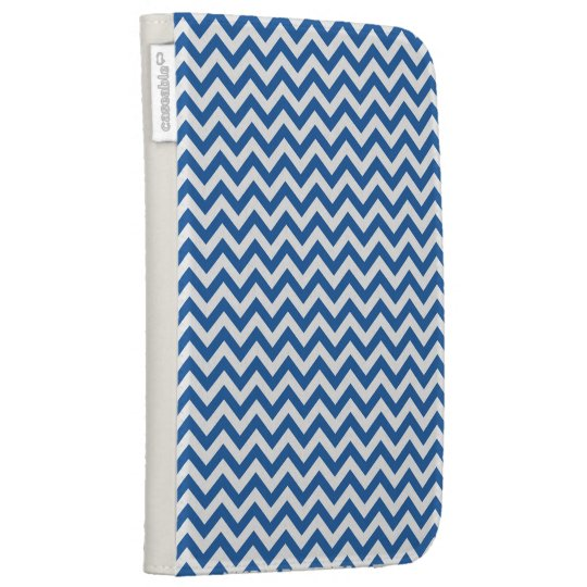Royal Blue White Chevron Pattern Kindle 3G Case