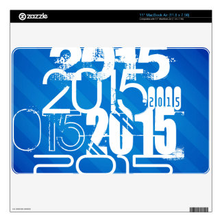 Royal Blue & White Class of 2015 MacBook Decals