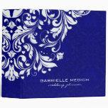 Royal Blue & White Floral Vintage Damasks Binders