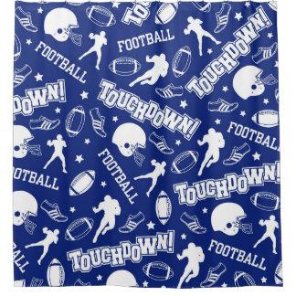 royal blue u0026 white football boyu0027s shower curtain