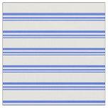 [ Thumbnail: Royal Blue & White Lined Pattern Fabric ]
