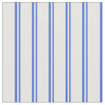 [ Thumbnail: Royal Blue & White Lines/Stripes Pattern Fabric ]