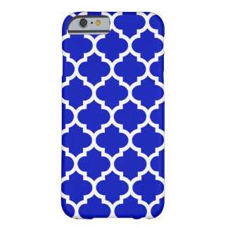Royal Blue White Moroccan Quatrefoil Pattern #5 Barely There iPhone 6 Case