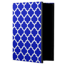 Royal Blue White Moroccan Quatrefoil Pattern #5 Powis iPad Air 2 Case