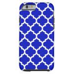 Royal Blue White Moroccan Quatrefoil Pattern #5 Tough iPhone 6 Case