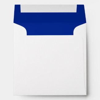 Royal Blue White Square Envelope