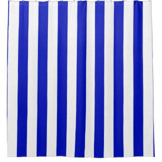 Royal Blue White Shower Curtain
