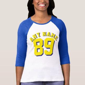 Royal Blue White & Yellow Adults | Sports Jersey T-Shirt