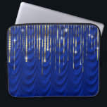 """Royal Blue with Gold Drape Luxury Computer Sleeve<br><div class=""""desc"""">Gorgeous royal blue and gold drape laptop sleeve.</div>"""