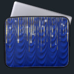 "Royal Blue with Gold Drape Luxury Computer Sleeve<br><div class=""desc"">Gorgeous royal blue and gold drape laptop sleeve.</div>"
