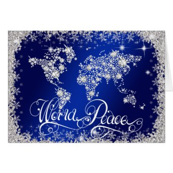 Royal Blue WORLD PEACE Diamonds PERSONALIZED Card