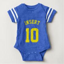 Royal Blue & Yellow Baby | Sports Jersey Design Baby Bodysuit