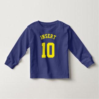 Royal Blue & Yellow Toddler | Sports Jersey Design Toddler T-shirt