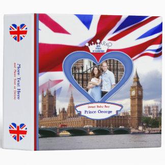 Royal British Baby Prince George 3 Ring Binder
