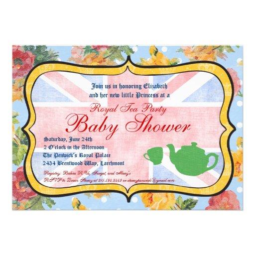 royal british baby shower invitation 5 x 7 invitation card zazzle
