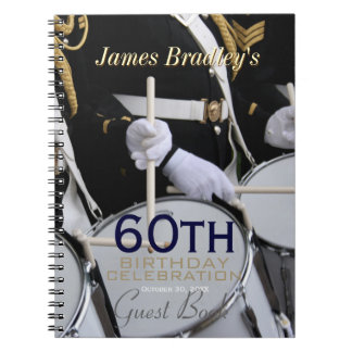 Royal British Band 60th Birthday Guest Book Spiral Notebook