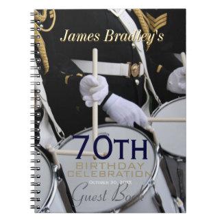 Royal British Band 70th Birthday Guest Book Notebook