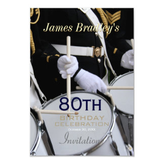 Royal British Band 80th Birthday Celebration Card