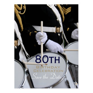 Royal British Band 80th Birthday Save the Date Postcard