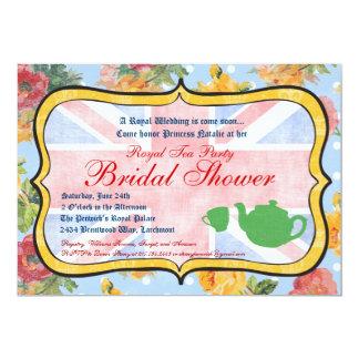 "Royal British Bridal Shower Invitation 5"" X 7"" Invitation Card"