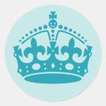 Royal British Crown Round Sticker