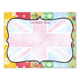 Royal British Personalized Flat Note Cards