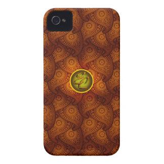Royal Brown Paisley (EC) iPhone 4 Case-Mate Case