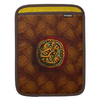 Royal Brown Paisley iPad Sleeve