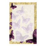 Royal Butterflies (Violet) Custom Stationery