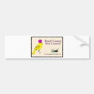 Royal Canary Pest Control Bumper Sticker