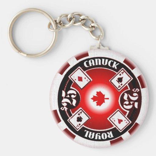Royal Canuck Poker Keychain