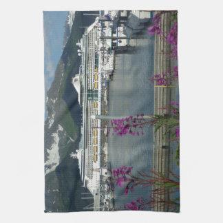 Royal Caribbean in Seward Alaska Kitchen Towels