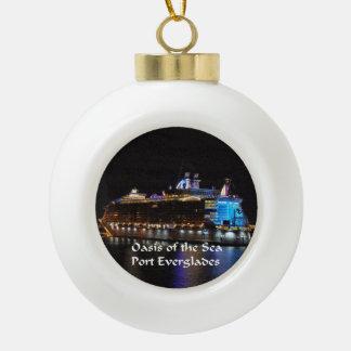 Royal Caribbean Oasis of the Seas Ceramic Ball Christmas Ornament