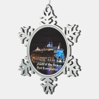 Royal Caribbean Oasis of the Seas Snowflake Pewter Christmas Ornament