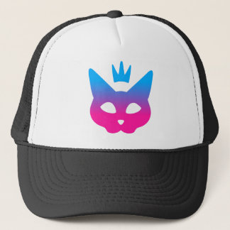 Royal Cat - Blue and Pink Trucker Hat