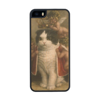 Royal Cat Funda De Arce Carved® Para iPhone 5 Slim