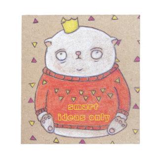 royal cat king pin notepad