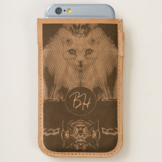 Royal Cat Monogram Leather iPhone 6/6S Case