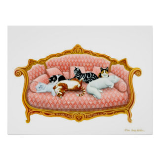 Royal Cat Nap Print