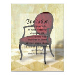 Royal Chair 4.25x5.5 Paper Invitation Card