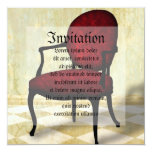 "Royal Chair 5.25"" Square Invitation Card"