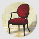 Royal Chair Classic Round Sticker