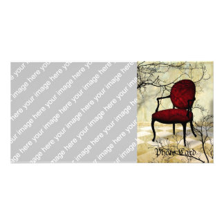 Royal Chair with Branches Card